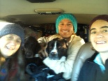 All loaded up in the burb on the way to the Outerbanks. Three people, three dogs and a LOT of stuff.
