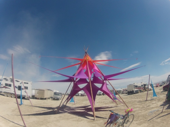 The Cosmic Temple at Burning Man, Aug 2012